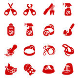 Dog care items as glyph icons, set two Royalty Free Stock Photo