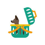 Dog carrier illustration. Dog carrier on the white background. Vector illustration Royalty Free Stock Photography