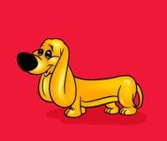 Dog cartoon card Stock Images
