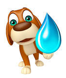 Dog cartoon character with water drop Royalty Free Stock Photos