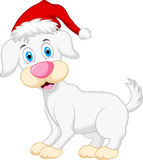 Dog cartoon with christmas hat Royalty Free Stock Images