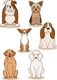 Dog cartoon collection Royalty Free Stock Image