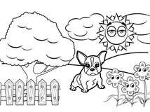 Dog cartoon Coloring book vector Royalty Free Stock Photos
