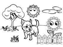 Dog cartoon Coloring book vector Royalty Free Stock Photography