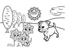 Dog cartoon Coloring book vector Royalty Free Stock Image