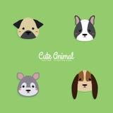 Dog Cartoon faces Royalty Free Stock Photo