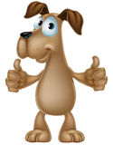 Dog cartoon giving thumbs up Stock Image