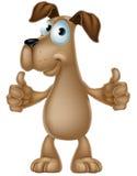Dog cartoon giving thumbs up. An illustration of a cute cartoon dog mascot character giving a thumbs up Stock Image