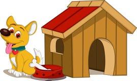 Dog cartoon and house Royalty Free Stock Photo