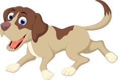 Dog cartoon running Stock Image