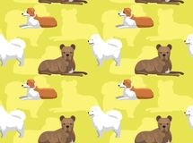 Dog Cartoon Seamless Wallpaper Welsh Sheepdog. Animal Wallpaper EPS10 File Format Stock Photography