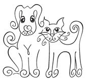 Dog and cat Royalty Free Stock Photography
