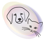 Dog and cat. This is the illustration of dog and cat Stock Photo