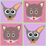 Dog and Cat background cartoon. Illustration Stock Photo