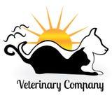Dog cat and birds logo. Stock Photos