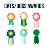 Dog or cat competition winner. Awards ribbon Royalty Free Stock Images