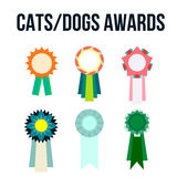 Dog or cat competition winner. Awards ribbon Stock Photo