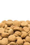 Dog and cat food granules isolated over white background Royalty Free Stock Photo