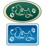 Dog and cat - Grooming logo. For company Royalty Free Stock Photos