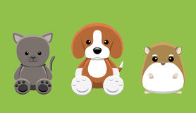 Dog Cat Hamster Pet Doll Cartoon Vector Illustration Stock Photo