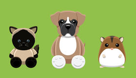 Dog Cat Hamster Pet Doll Cartoon Vector Illustration 2 Royalty Free Stock Photography