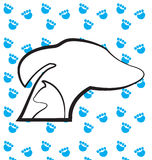 Dog and cat heads silhouettes logo stock illustration