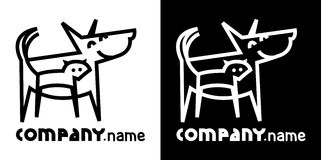 Dog and cat. Identity icon with dog and cat