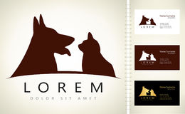 Dog and cat logo. Design vector illustration Stock Images