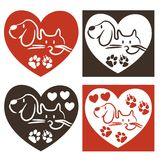 Dog and cat - love logo. For company Royalty Free Stock Image