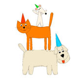 Dog cat and mouse Royalty Free Stock Photos