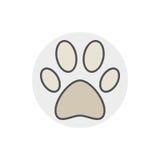 Dog or cat paw icon Stock Photo