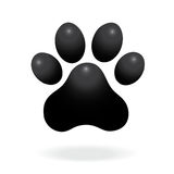 Dog or cat paw print flat icon for animal apps and websites. Paw Print. Vector Royalty Free Stock Image
