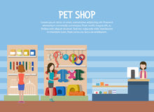 Dog and cat pet shop or store interior Royalty Free Stock Photography