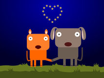 Dog and cat's heart Royalty Free Stock Photography