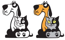 Dog and cat together Royalty Free Stock Images