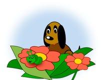Dog and Caterpillar Royalty Free Stock Photos