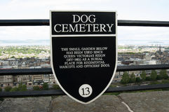 Dog Cemetery at Edinburgh Castle Stock Photography