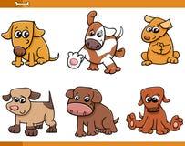 Dog characters cartoon set Stock Photography