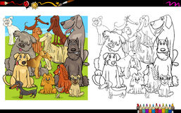 Dog characters for coloring Royalty Free Stock Image