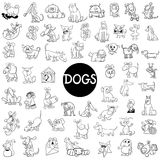 Dog characters large set Stock Photos
