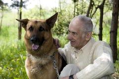Dog charmer Stock Photo