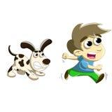 Dog chase Stock Photo