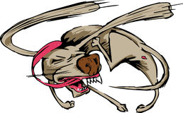 Dog chasing his tail. This is an illustration of a dog trying to catch his tail. He almost there Royalty Free Stock Image