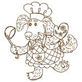 Dog chief-cooker Stock Image
