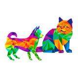 Dog chihuahua vector cartoon pedigree friendship Royalty Free Stock Image