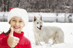 Dog and child Royalty Free Stock Photos