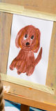 Dog children's drawing Royalty Free Stock Images