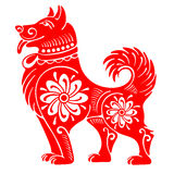 Dog. Chinese zodiac symbol of 2018 year, isolated on white background. Vector illustration Royalty Free Stock Images