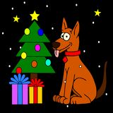 Dog Christmas Stock Photography