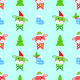Dog christmas seamless pattern Royalty Free Stock Images